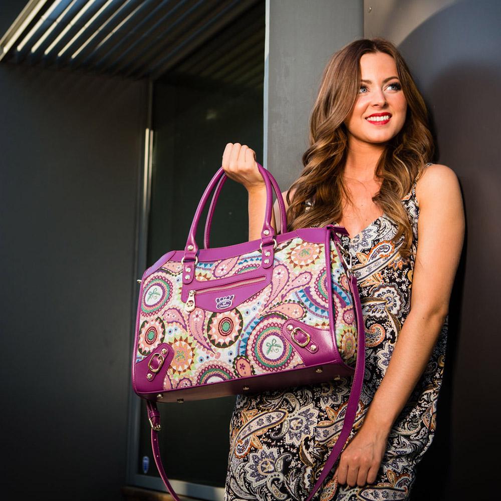 Fricaine Princess Demi Exotic Satchel Bag