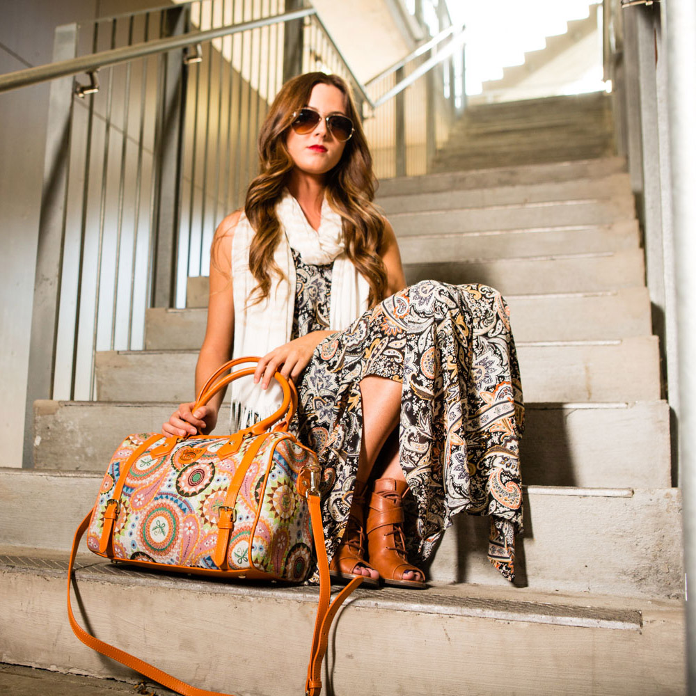 Fricaine Queen's Hand Exotic Satchel Bag